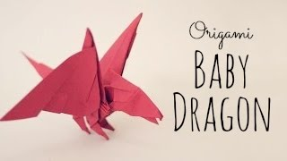 Papercraft 3d origami chinese dragon tutorial - easy part 2 - YouTube | 180x320