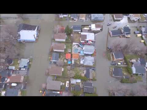 Aerial Footage captures flooding in Gatineau, Quebec