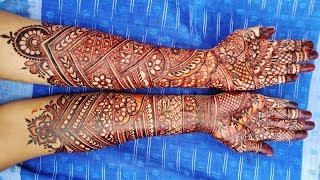 Latest Bridal (Wedding, Dulhan) Mehndi Design for Both Hands - Full Hand Henna Art