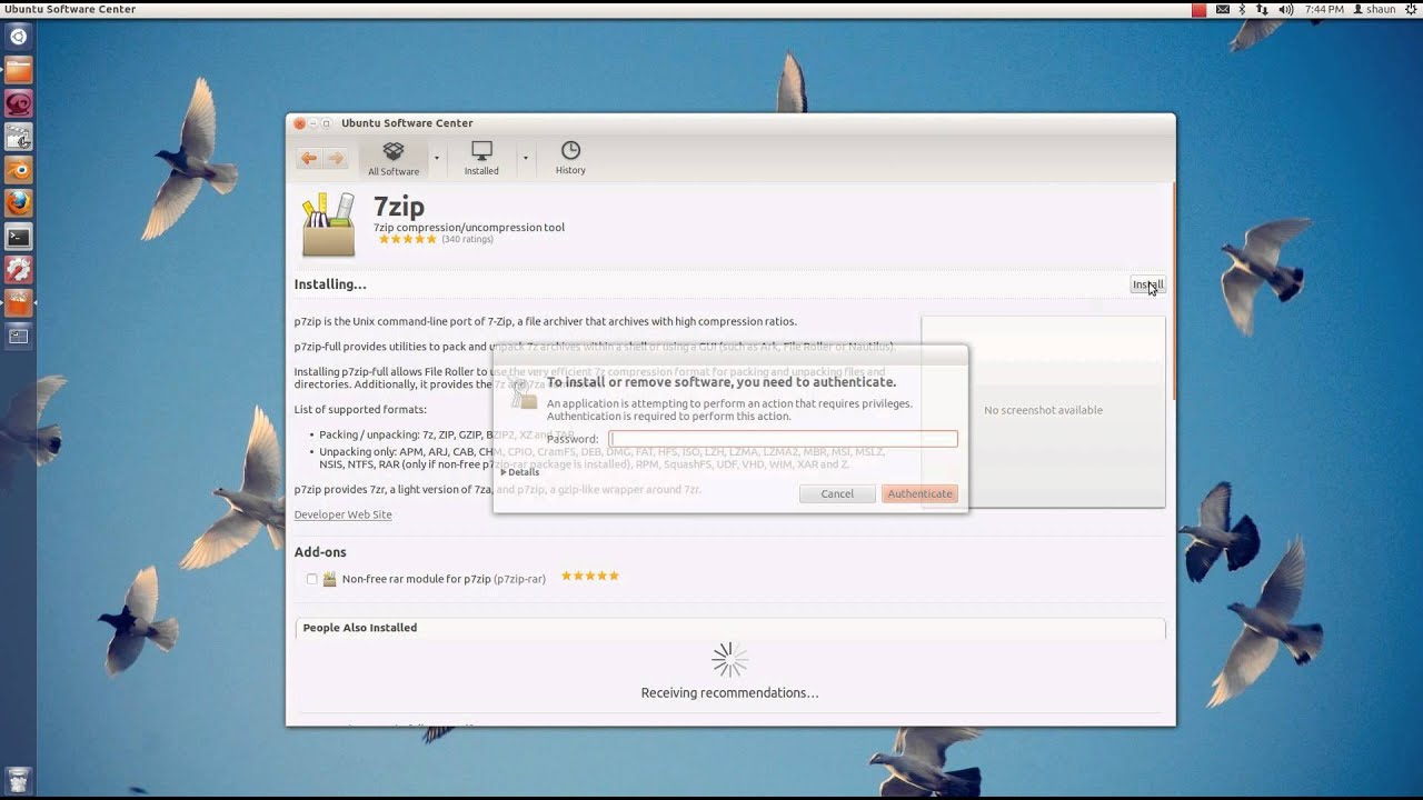 Install and Use 7zip in Ubuntu