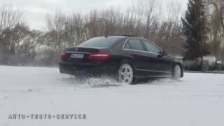 Mercedes 4matic snow drift