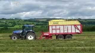 New Holland TM150 & Pottinger Forage Wagon