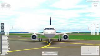 Lufthansa Airbus A319 taxi e decolagem-Roblox VFS