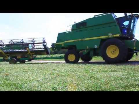 John Deere 2256 & 2266 ernten Gerste [Ernte 2013] Agrarservice Hante