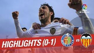 Resumen de Getafe CF vs Valencia CF (0-1)