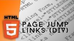 HTML - Page Jump URLs