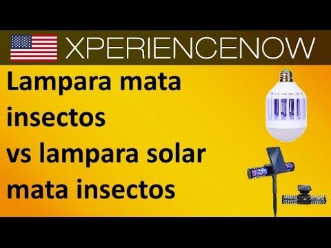 Lampara mata insectos vs lampara solar mata mosquitos - Lampara mata mosquitos ...