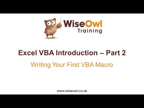 Excel VBA Introduction Part 2 - Writing Your First VBA Macro - YouTube