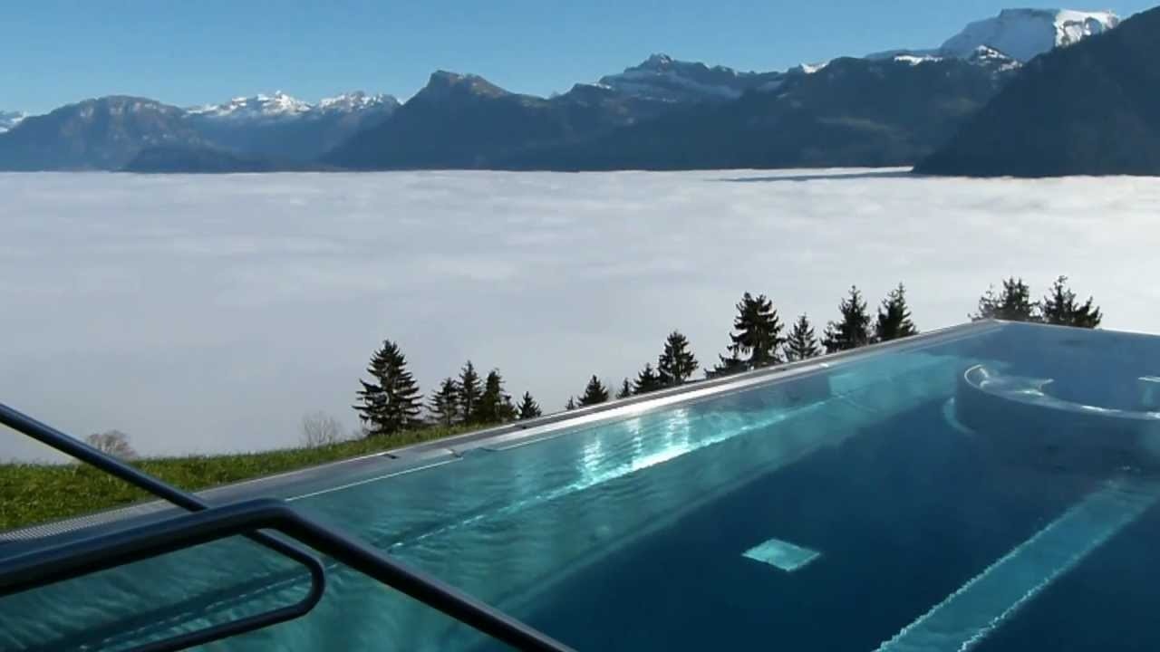 hotel villa honegg outdoor swimming pool youtube. Black Bedroom Furniture Sets. Home Design Ideas