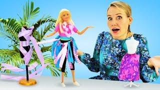 Барби едет на Гавайи? Одевалки Барби. Юбка своими руками