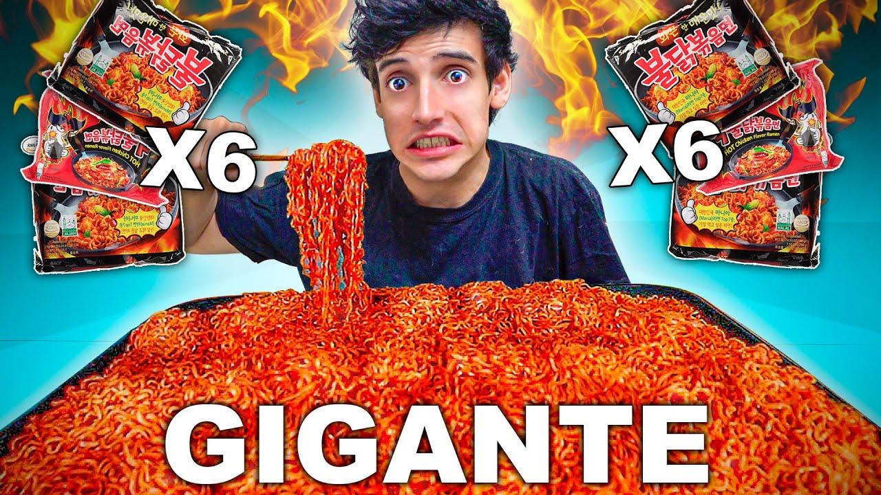 X6 SUPER FIRE NOODLES RAMEN MAS PICANTE de POLLO del MUNDO | COMIDA Challenge *reto de tik tok*