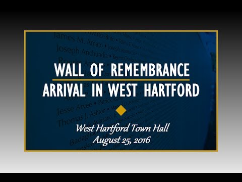 The Global War on Terror Wall of Remembrance Comes to West Hartford (August 2016)