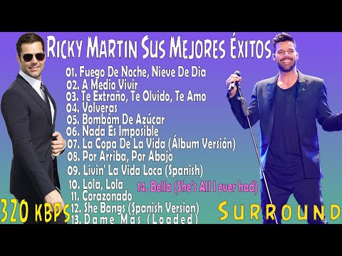 Ricky Martin Sus Mejores Éxitos | Romanticas 2016 | Parte 1