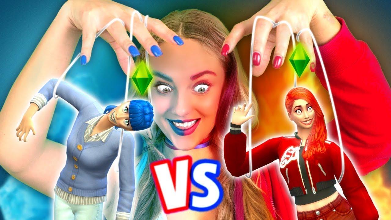 """Reto de CALIENTE vs. FRÍO en """"Los Sims 4"""" por La La Vida Juegos"""