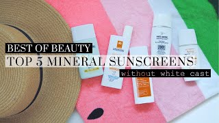 Top 5 Best Mineral Sunscreens Without White Cast, best of beauty, sunscreen