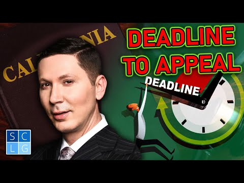 "What is the deadline to ""appeal"" a criminal conviction?"