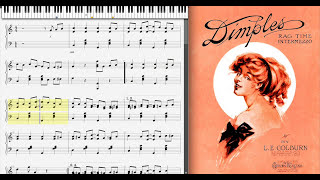 Dimples by L. E. Colburn (1910, Ragtime piano)
