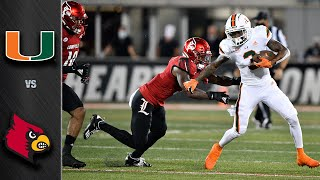 Miami vs Louisville Football Highlights (2020)