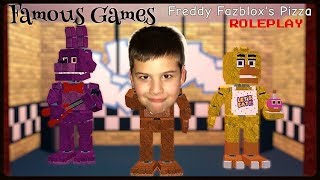 ROBLOX Freddy Fazblox's Pizza Greek Gameplay Παιχνίδια στο Famous Game/// Famous Toli