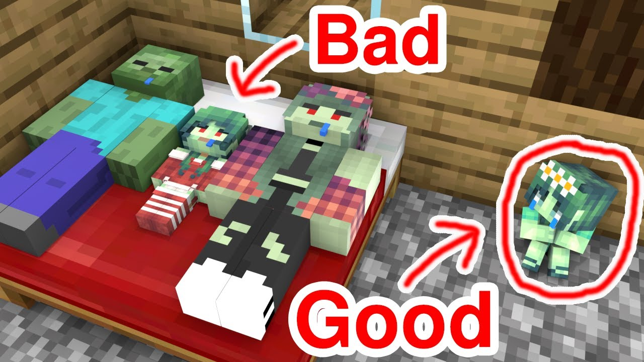 Download Monster School : Good Baby Zombie Girl and Bad Baby Zombie Girl - Sad Story - Minecraft Animation