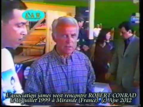 INEDIT EXCLUSIF AJW Robert Conrad les mystères de l'ouest rencontre son fan club françaisde YouTube · Durée:  1 minutes 51 secondes