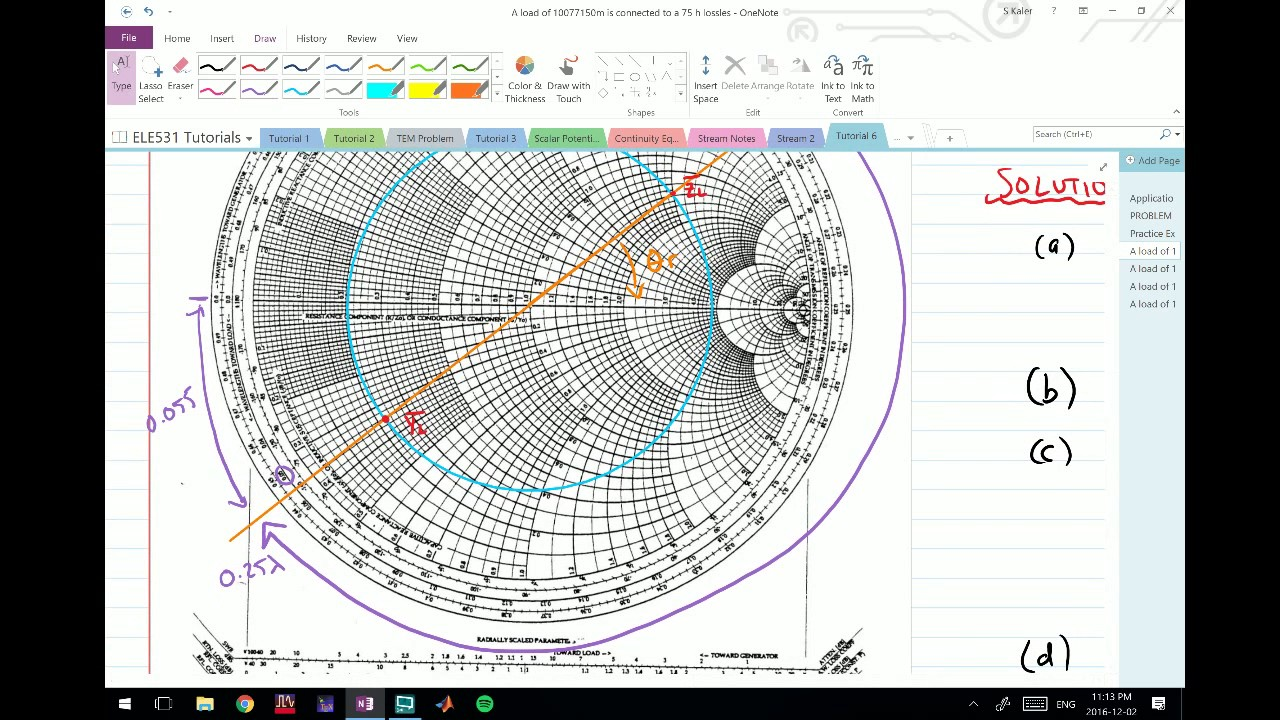 how to solve smith chart problems