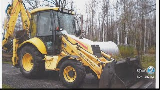 Hawaii island police ask for help locating stolen state-owned backhoe