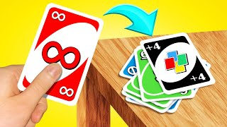 Using INFINITY CARDS To WIN! (Uno Hack)
