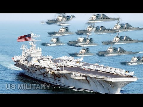 U.S. Aircraft Carrier Surrounded by 20 Iranian Small Ships