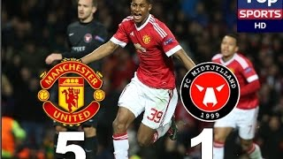 Manchester United Vs Midtjylland 5-1 All Goals 25.02.2016
