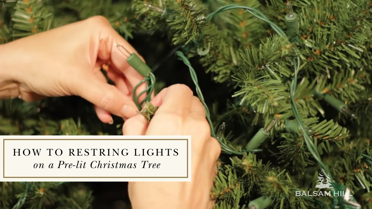 Restringing Lights On A Pre Lit Balsam Hill™ Tree YouTube - Fix Christmas Tree Lights On A Pre Lit