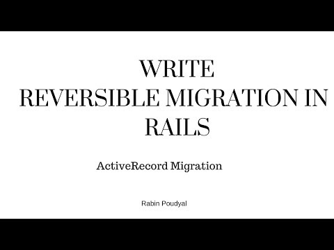 Ruby On Rails Tutorial Reversible Migration