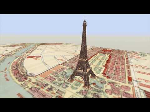 Eiffel Tower: Animated Construction Timelapse