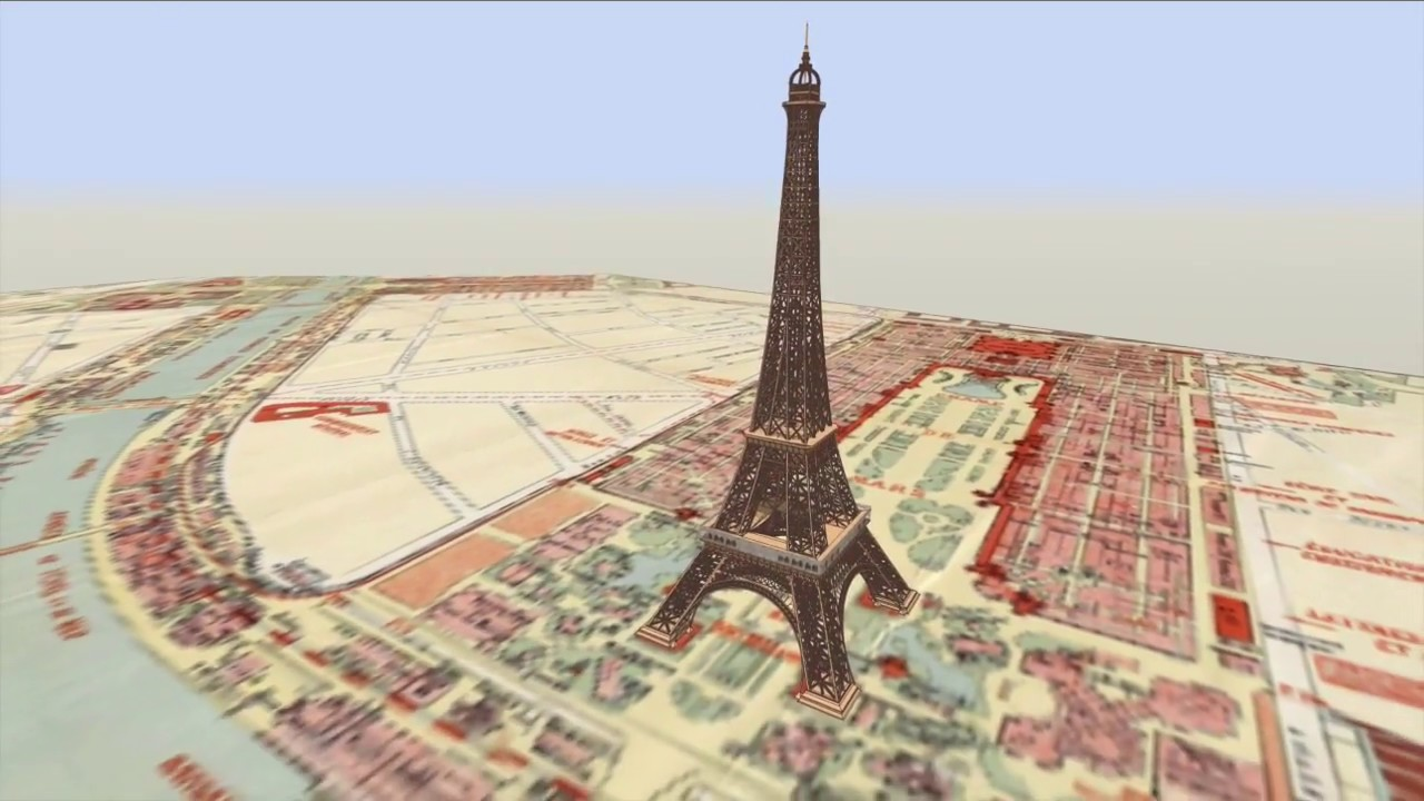 Watch the Building of the Eiffel Tower in Timelapse Animation