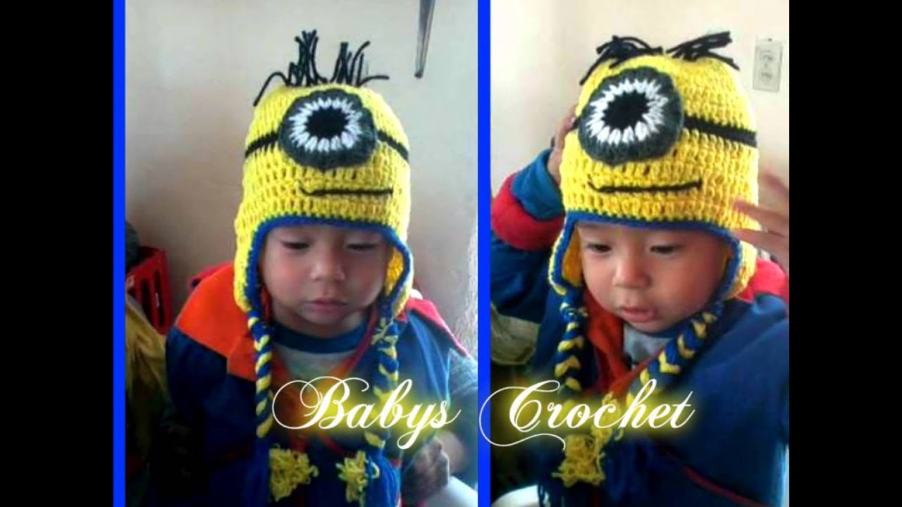 Gorro de Minion a Crochet - YouTube
