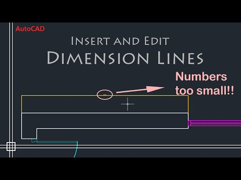 AutoCAD Basics - Edit Dimensions (Simple Tutorial!!) PART 1
