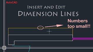 AutoCAD Basics - Edit Dimensions (Simple Tutorial!!)