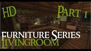 Minecraft Medieval Furniture Series [Part 1] The Livingroom HD YouTube