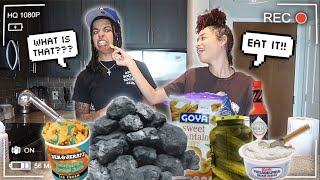 Trying My Baby Mama WEIRD DISGUSTING PREGNANCY CRAVINGS!! *I ALMOST THREW UP* 🤮