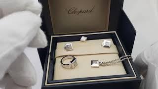 Обзор ювелирного набора Chopard коллекция Happy Diamonds белое золото, оригинал!