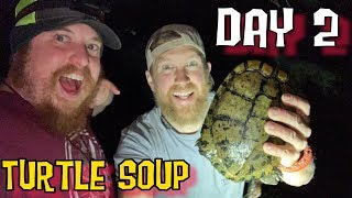 Catch and Cook Turtle Soup  30 Days, 1 Bag  Surviving the Texas Wilderness Day 2