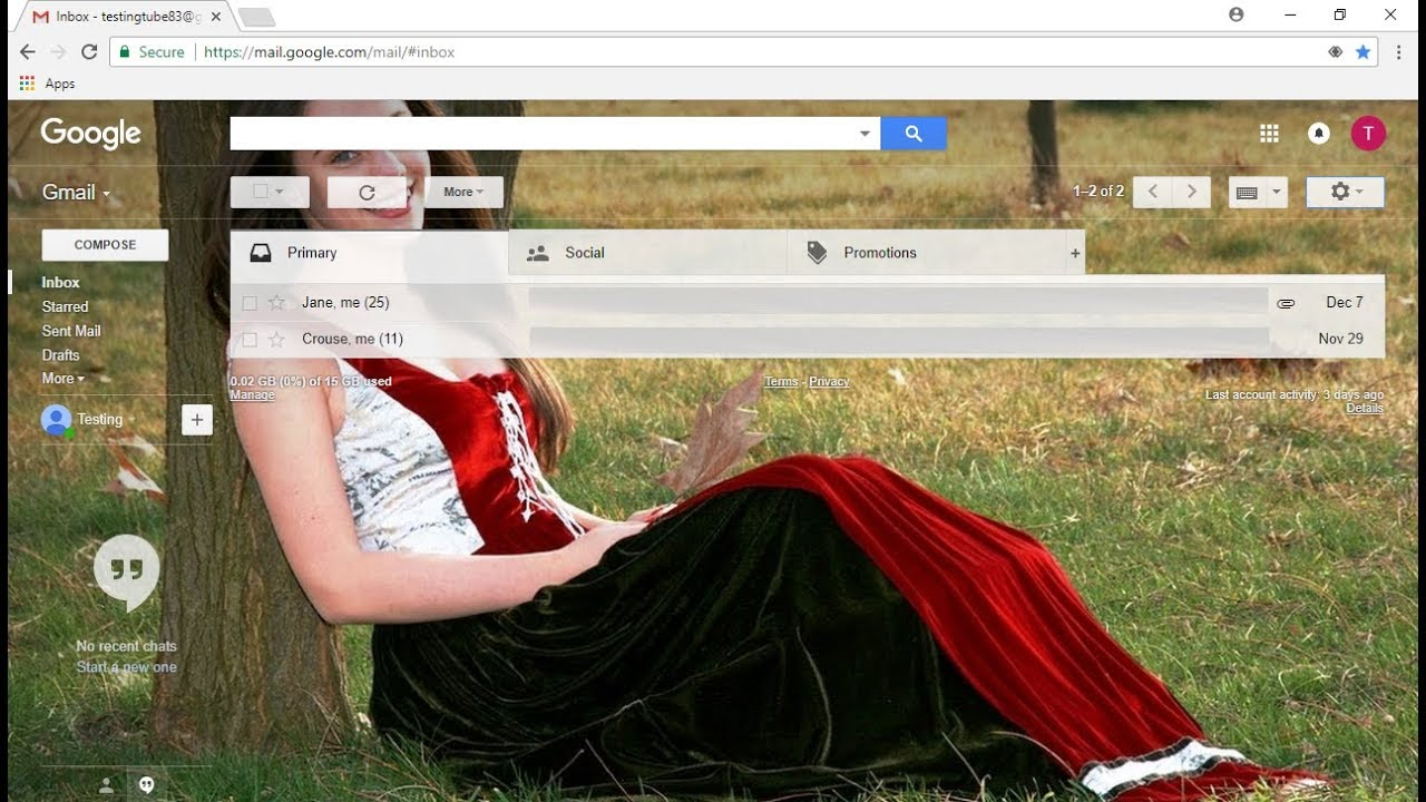 How to Set your own Picture in Gmail Background Theme Easy