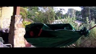 Lightweight Diy Weatherproof Tarp Hammock Peapod Shelter