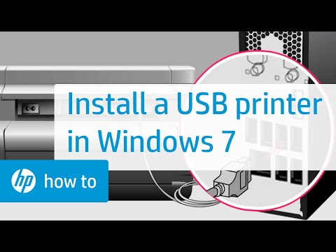 Installing An HP Printer With An Alternate Driver In Windows 7 For A USB Cable Connection | HP
