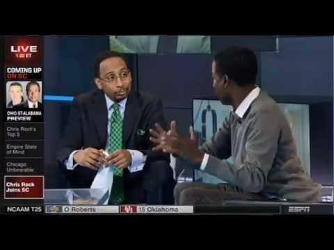 Stephen A Smith talks top five comedians, basketball  with Chris Rock on ESPN Sportscenter