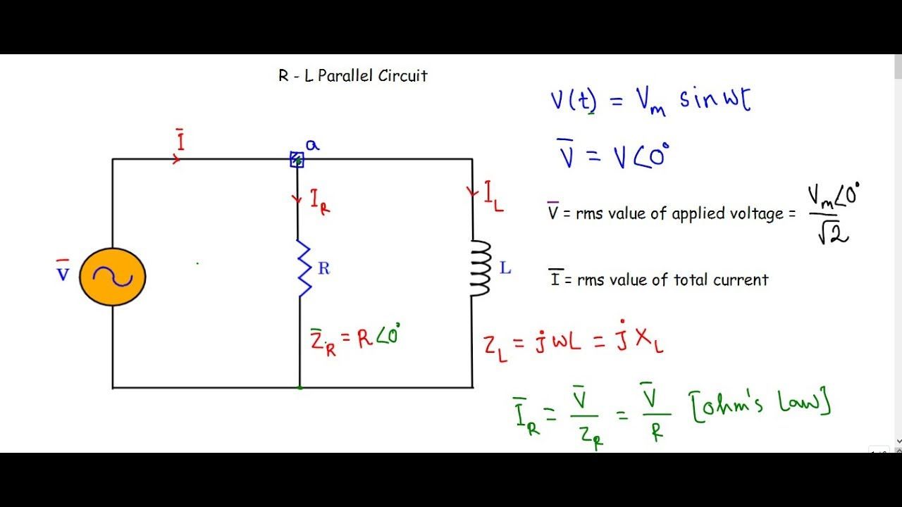 R l parallel ac circuit youtube r l parallel ac circuit pooptronica Choice Image