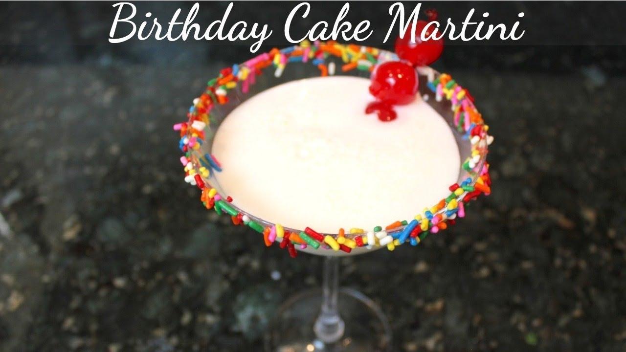 Birthday Cake Martini Recipe Easy Cocktail Drink Recipes Youtube