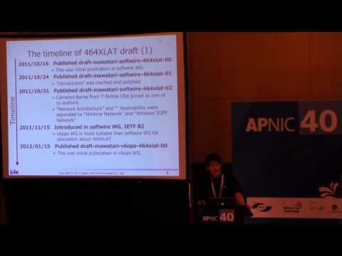APNIC 40 - Wading through the muddy IPv6 puddle