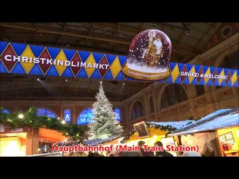 Zurich Christmas Trees, Lights, Markets & Luminarium - 2017 Advent Season