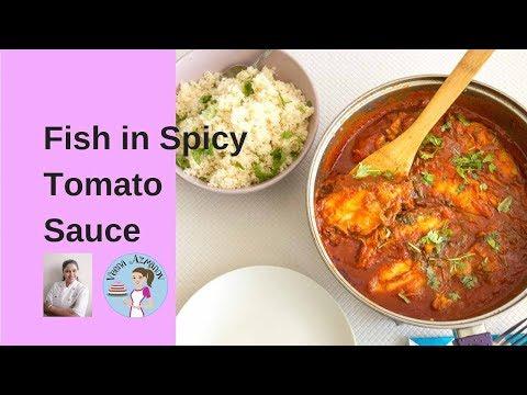 Moroccan Fish In Spicy Tomato Sauce | Chraime | Moroccan Recipe